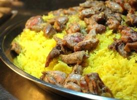 rice with garlic chicken
